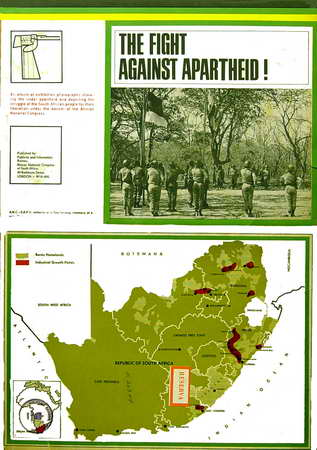 Foto de The Fight against apartheid! An album of exhibition photographs showing life under aparteid and depicting the struggle of the Soth African p Fecha: [196-] Lugar: London Técnica: Offset, b. y n. Dimensiones: 42 x 31 cm.